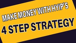 Investing in HYIPs (High Yield Investment Programmes) - My WINNING strategy