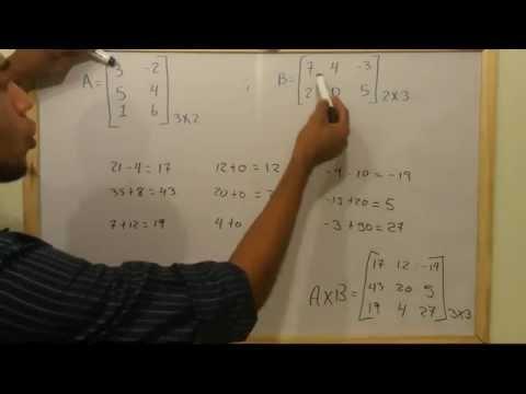 Como multiplicar dos matrices [Multiplicación de Matrices].