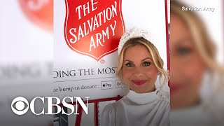 With fewer Salvation Army red kettles this year, Candace Cameron Bure urges people to donate onli…