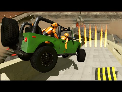 High Speed Crazy Jumps Crashes #46 BeamNG Drive
