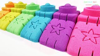 Learn Colors Kinetic Sand Making Colorful Brick - Arts and Crafts for Kids - Video Youtube