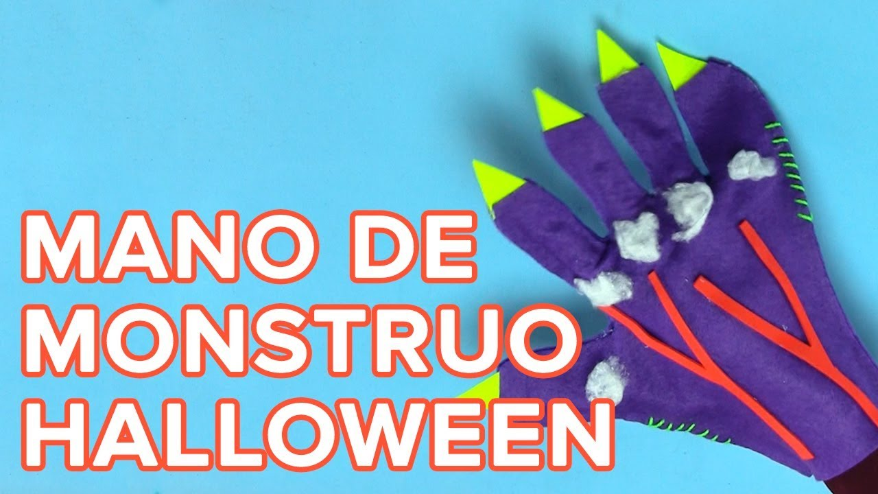 Mano de monstruo o zombie | Manualidades de Halloween para niños