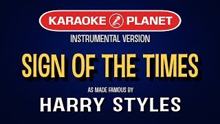 Sign Of The Times (Karaoke)   Harry Styles