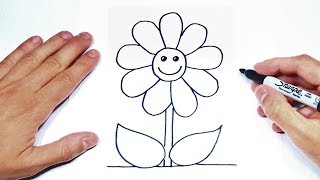 How To Draw A Flower Step By Step   Flower Drawing Lesson