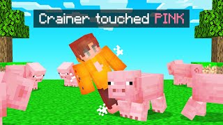 I CANT TOUCH The Color PINK In Minecraft!