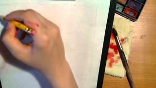 Смотреть онлайн Поэтапный урок рисования акварелью для начинающих