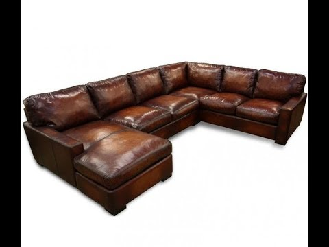 Large Leather Sectional Sofa