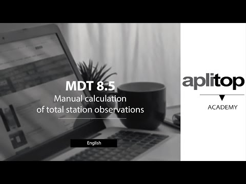 MDT8 Manual calculation of total station observations