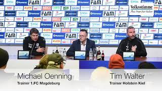 PK nach FCM-Kiel-Spiel
