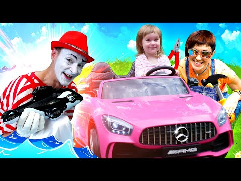 Машинка Бьянки сломалась. Маша Капуки и мим ищут косатку - Видео для детей видео