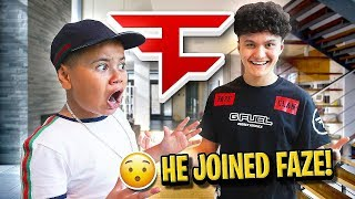 MY LITTLE BROTHER'S REACTION TO JARVIS JOINING FAZE IN PERSON!! (FAZE KAY'S BROTHER FaZe JARVIS) OMG