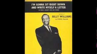 Billy Williams 'I'm Gonna Sit Right Down And Write Myself A Letter' 78 rpm
