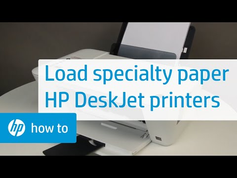 Loading Specialty Paper for the HP Deskjet 1510, 2540, Deskjet Ink Advantage 1510, and 2540