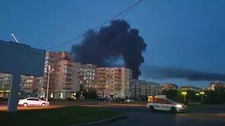 Крупный пожар в Гатчине 8 августа 2018 года