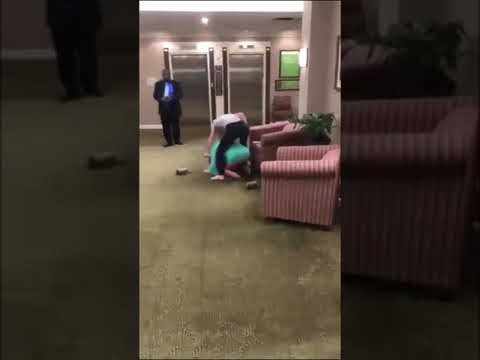2 girls fight in hotel (police called)