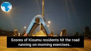 Scores of Kisumu residents hit the road running on exercises to keep