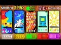Samsung Galaxy S20 Ultra vs iPhone 11 Pro MAX vs Z Flip vs S10+ vs Note Plus - Battery Drain Test!