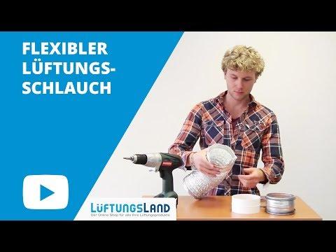 Montage flexibler Lüftungsschlauch