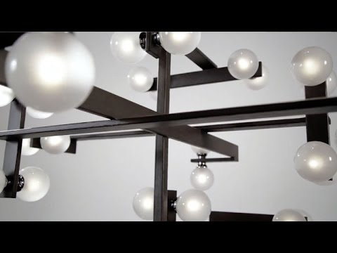 Video for Network Forest Bronze and Polished Chrome Semi-Flush Mount