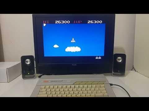 Playing Time Pilot on the Atari 8bit computer