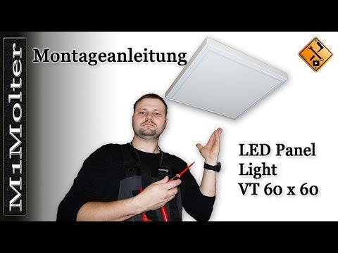 LED Panel 60x60 - Deckenleuchte Montageanleitung von M1Molter.