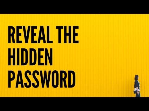 Easily Reveal Hidden Passwords In Any Browser