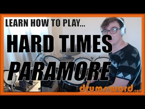 ★ Hard Times (Paramore) ★ Drum Lesson PREVIEW | How To Play Song (Zac Farro)