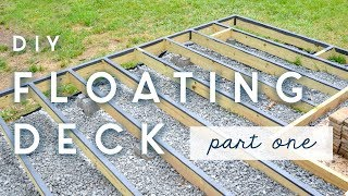 DIY Floating Deck | PART ONE | Frame + Moisture Barriers