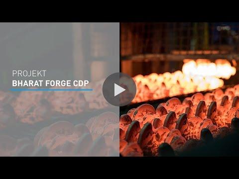 Für den Kunden BHARAT FORGE CDP hat Blumenbecker die Automatisierungstechnik einer neuen Endfertigungslinie für Kurbelwellen übernommen.