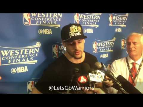 Klay Thompson, postgame 2017 Western Conference championship, Warriors (4-0) vs Spurs Game 4