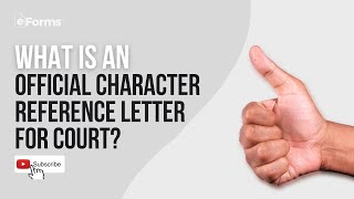 Official Character Reference Letter for Court  - EXPLAINED