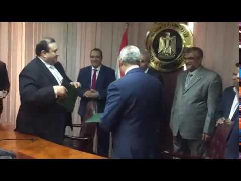 الوزير/طارق قابيل يشهد توقيع عقد بين هيئة المعارض والمؤتمرات وشركة المقاولون العرب