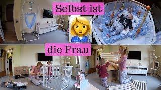 Laufgitter und Swing2Sleep aufbauen I Heimwerkerin I Mama Alltag I Family Vlog I AllesClärchen