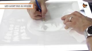 Dicas e detalhes sobre desenhar sobre foto em mesa de luz Huion Led Light Pad