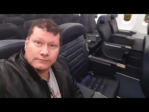 Spirit airlines first class seat flying from Fort Lauderdale Florida to Baltimore Maryland Feb01 17