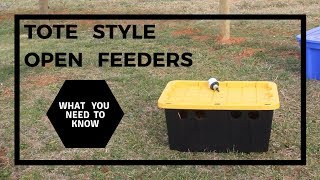 Tote Style Open Feeders