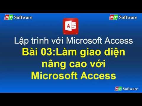 Bài 03: Lập trình với Microsoft Access và VBA Access - NT Software
