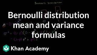 Bernoulli Distribution Mean and Variance Formulas