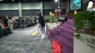 Evangel Fellowship (COGIC) REAP by JJ Hairston & Youthful Praise - Choir and Flags angle