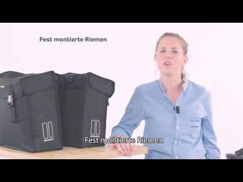 Basil Fixed mounted straps - Wie befestigt man eine Fahrrad Doppeltasche?