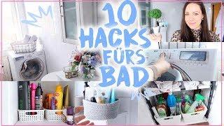 10 HACKS Für Kleine Badezimmer♥︎• Organisation, Stauraum& Dekoration• Maria Castielle