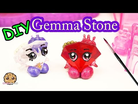 DIY Valentines Day Red GEMMA STONE Custom Shopkins Do It Yourself Craft Video