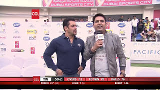 The Kapil Sharma with Salman Khan at CCL Show. Comedy Night with Kapil at Celebrity Cricket League