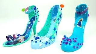 Игровой набор для детей, украшаем туфли героинь мультика Холодное сердце