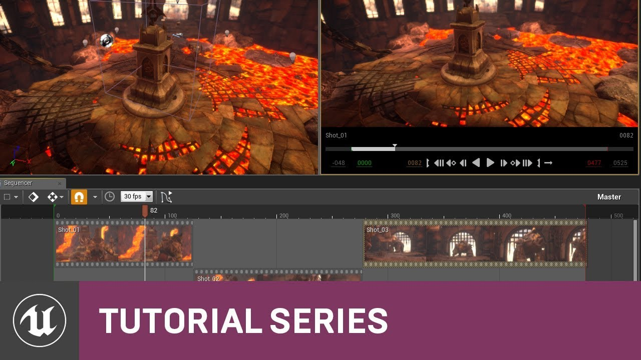 Cinematics with Sequencer: Sequencer Editor Intro | 03 | v4.12 Tutorial Series | Unreal Engine