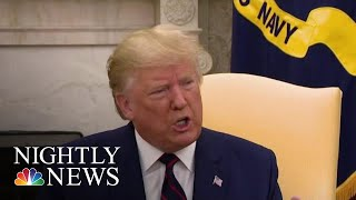 President Donald Trump Unleashes On House Democrats On Twitter | NBC Nightly News