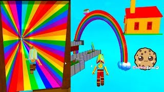 House on a Rainbow ! St. Patrick's Day Roblox Obby Game Play Video