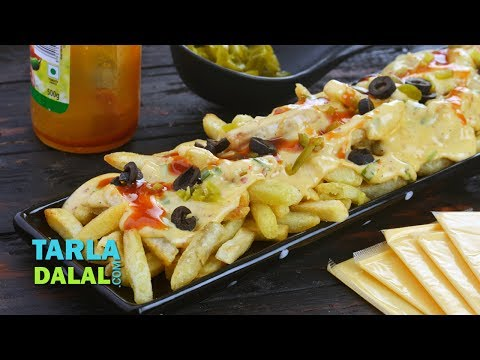 Spicy creamy French Fries by Tarla Dalal