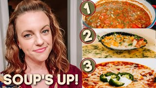 WHAT'S FOR DINNER? | 3 EASY DELICIOUS SOUPS | EASY DINNER IDEAS | NO. 41