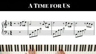 [로미오와 줄리엣 OST] A Time for Us - 중급 ver.
